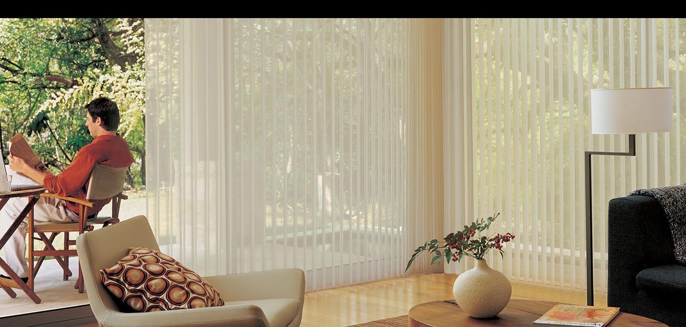 Cortina Luminette® - Hunter Douglas -  Sala de estar